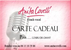 Anita Covelli cours de chant